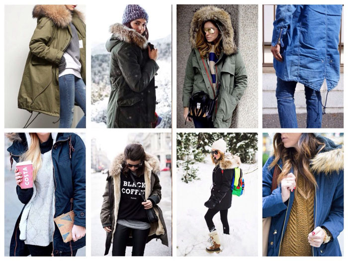 С чем носить парку зимой фото