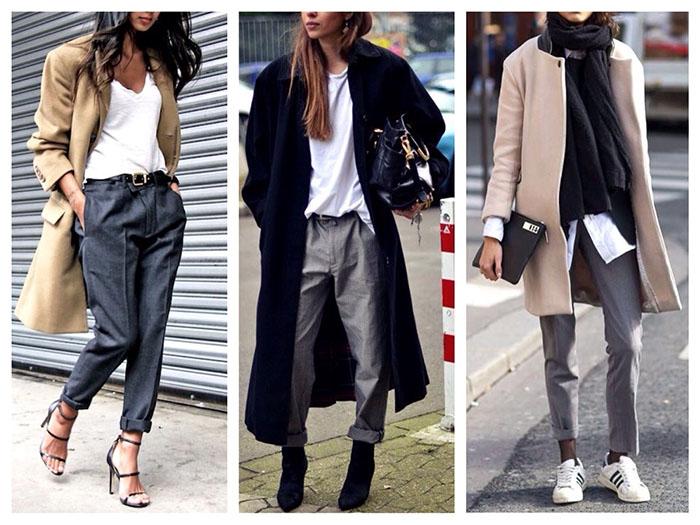 Серые штаны весной фото