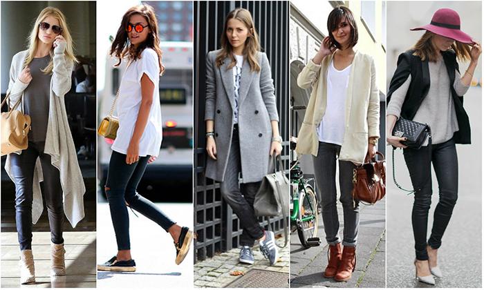 Модные серые брюки для женщин фото