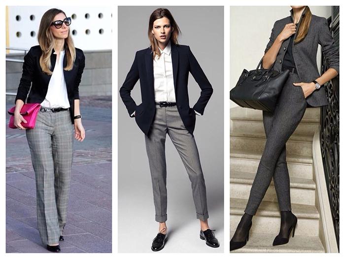 08a33f2a С чем носить серые женские брюки: широкие, узкие, укороченные ...