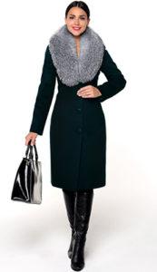 Приталенное зимнее пальто фото