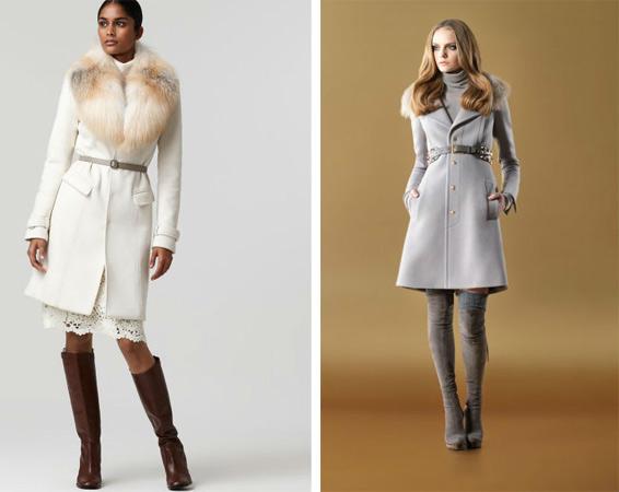 Как носить пальто с меховым воротником фото