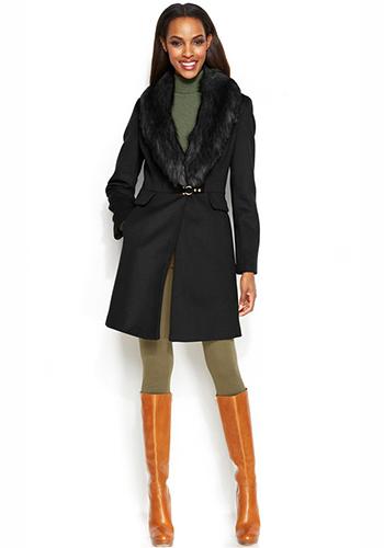 Стидбное пальто под сапоги фото