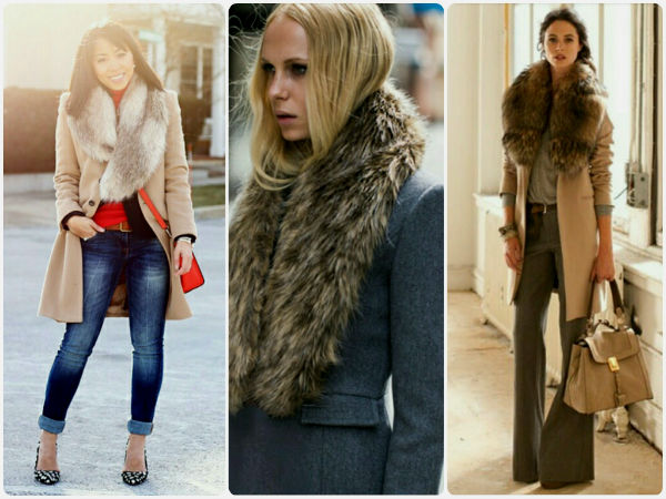 Разные модели зимнего мехового пальто фото