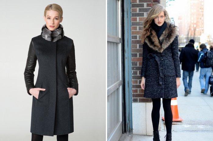 С чем носить меховое пальто зимой фото