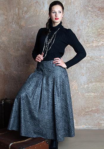 Роскошная длинная юбка фото