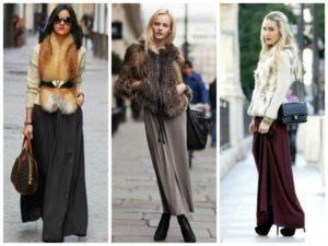 Разные модели длинных юбок фото