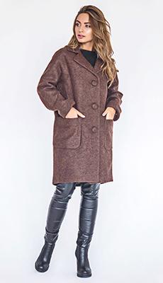 Стильное коричневое пальто фото