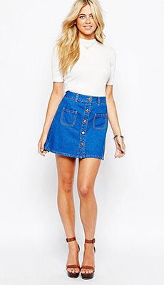 Коротенькая джинсовая юбка фото