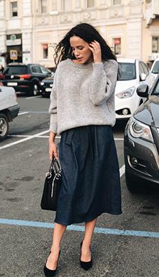 Чёрная джинсовая юбка фото