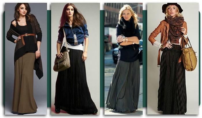 Тёмная длинная юбка фото