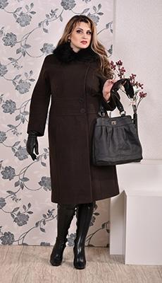 тёмно-коричнеыое пальто фото