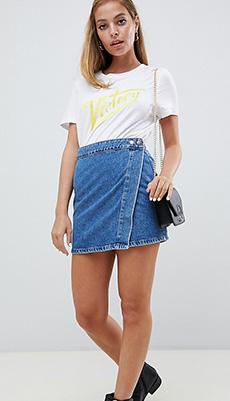 Короткая юбка на запах фото