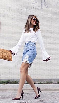 Короткая высокая юбка фото
