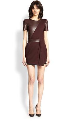 Короткое кожаное платье фото