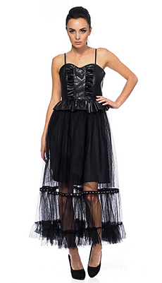 Кожаное платье с корсетом фото