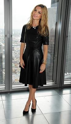 Современное кожаное платье фото