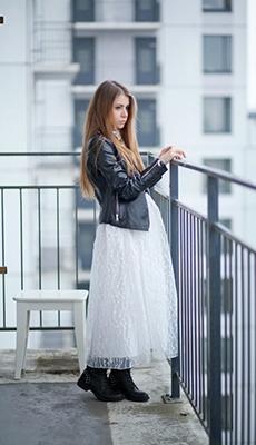 Косуха под белое платье фото