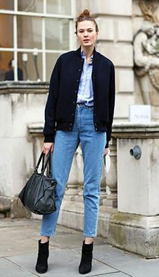 Бомбер под укороченные джинсы фото