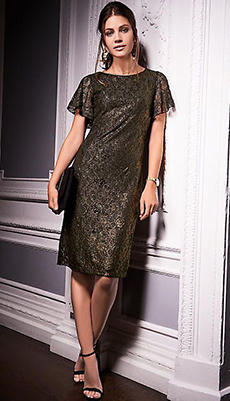 Платье с пайетками до колена фото