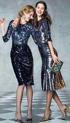 Платье с пайетками по фигуре фото