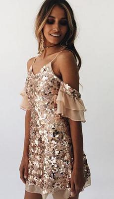 Летнее платье с пайетками фото