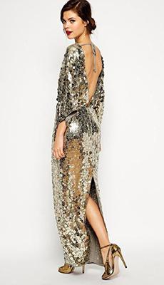 Платье с пайетками с открытой спиной фото