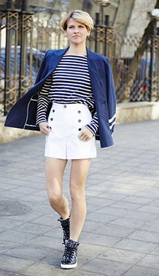 Тельняжка под белую юбку фото
