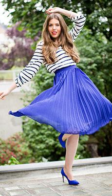 Тельняжка под юбку до колена фото