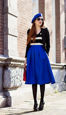 Тельняжка под синюю юбку фото