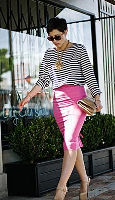 Тельняжка под розовую юбку фото
