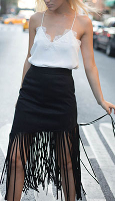 Бельевой топ под чёрную юбку фото