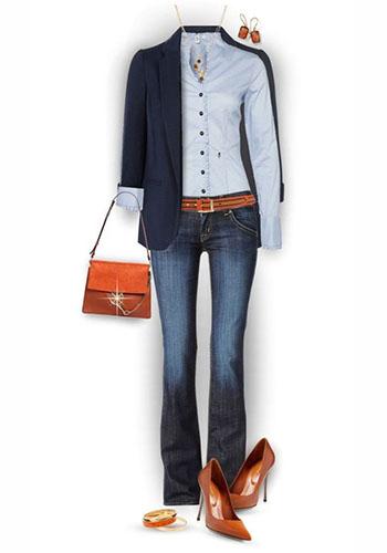 Мужская рубашка под джинсы девушке фото