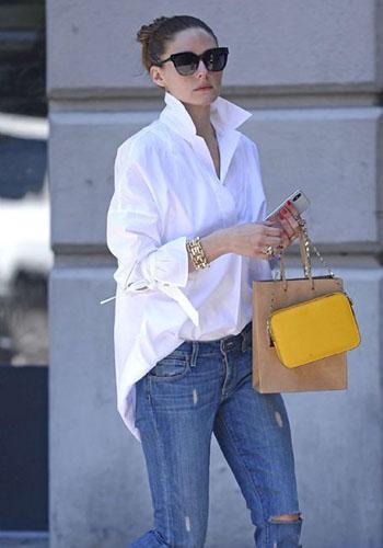 Белая мужская сорочка девушке фото