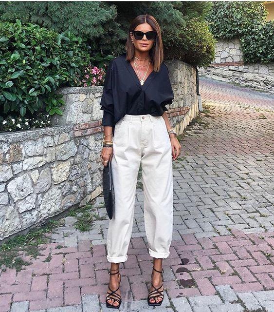 джинсы слоучи с чем носить