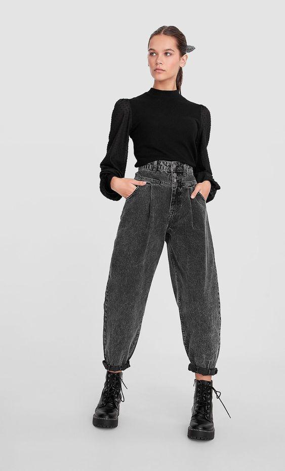 серые джинсы слоучи
