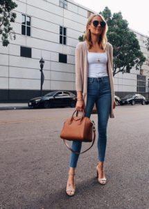 укороченные джинсы с босоножками