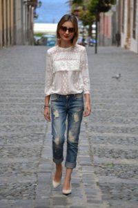 укороченные джинсы с чем сочетать