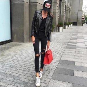 узкие черные укороченные джинсы
