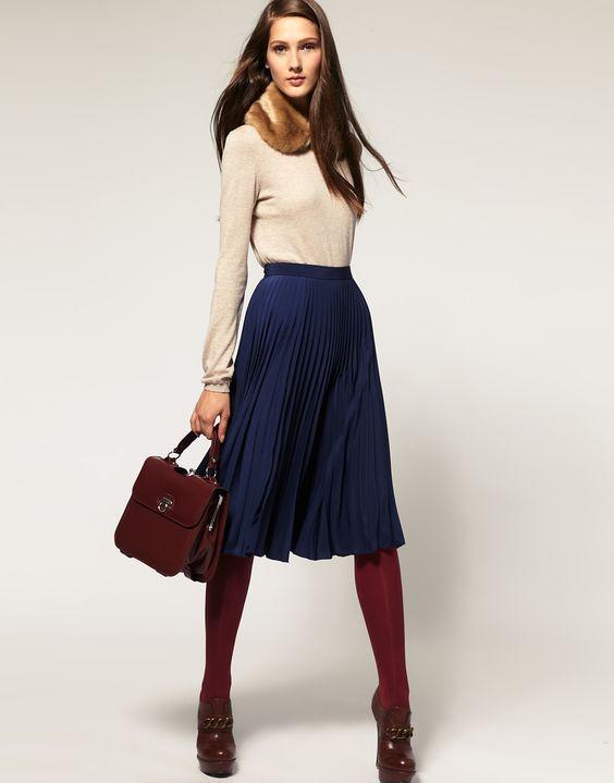 юбка плиссе зимой с чем носить