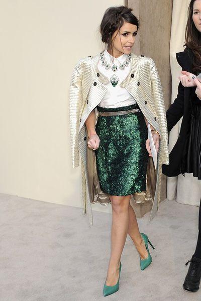 зеленая юбка с пайетками